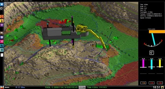 Dredge master software - 3D view