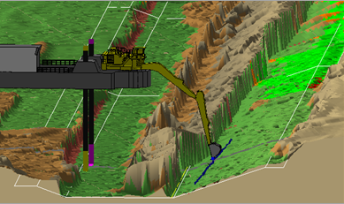 View of trench design created in Dredge Master Office